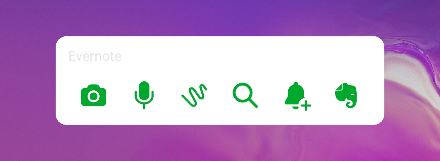 Android Evernote widget
