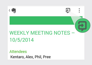 Share notes and collaborate using Work Chat