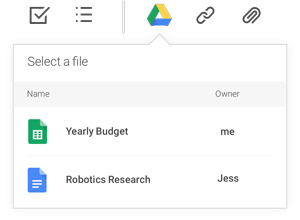 Select Google Drive icon on toolbar
