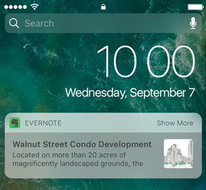 折叠模式的iOS Evernote 插件