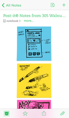 Post-it Notes sous forme de notes individuelles