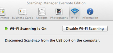 Enable ScanSnap Wi-Fi